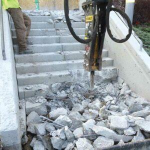Concrete demolition company edmonton - walser contracting demolishing concrete stairs
