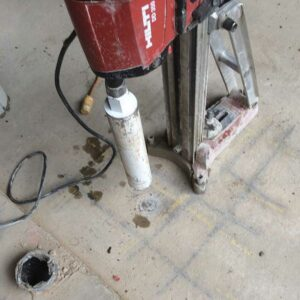 Concrete coring edmonton - image of concrete coring machine used by walser contracting