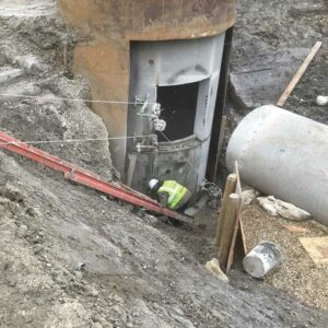 Image of heavy industrial concrete construction by walser contracting