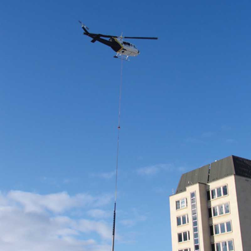 Helicopter concrete construction in edmonton by walser contracting