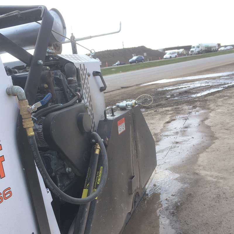 Concrete cutting by walser contracting on the anthony henday job in edmonton - image of concrete cutting