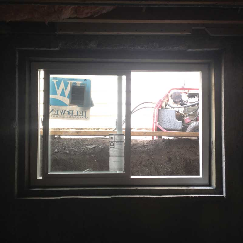 Residential concrete window cutting in edmonton by walser contracting