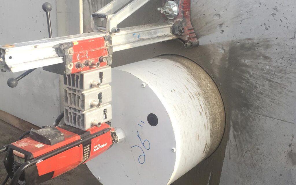 large concrete coring