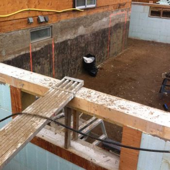 Residential foundation window cutting by walser contracting in edmonton