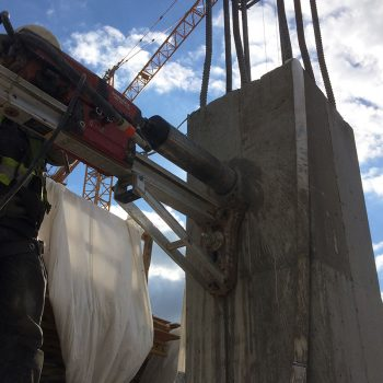 concrete coring in action